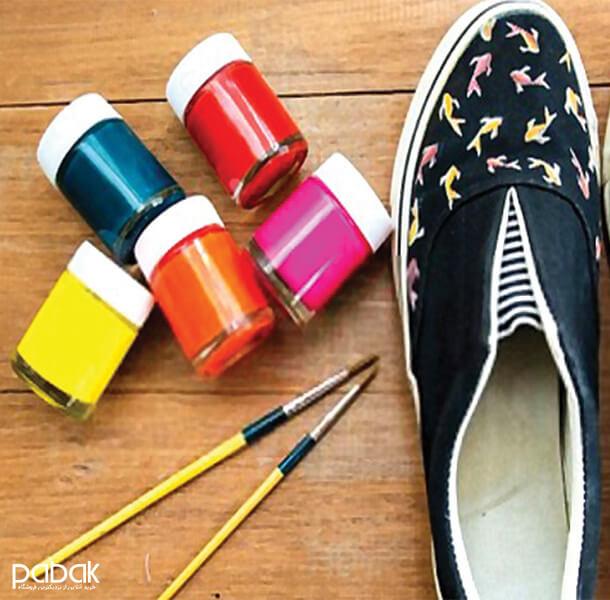 How to paint shoes 1 - چطور کفش را رنگ کنیم