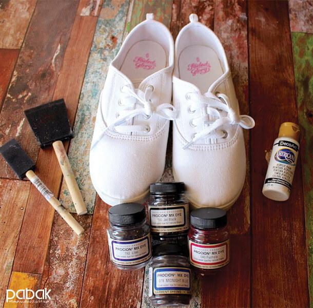 How to paint shoes 13 - چطور کفش را رنگ کنیم