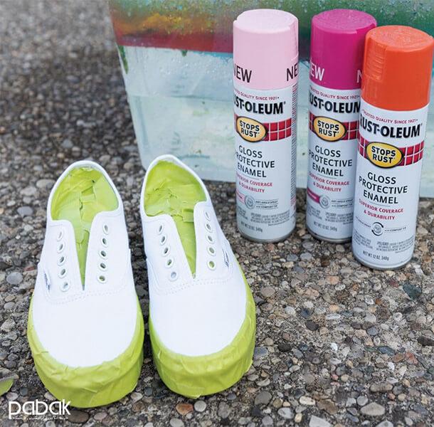 How to paint shoes 14 - چطور کفش را رنگ کنیم