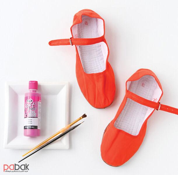 How to paint shoes 15 - چطور کفش را رنگ کنیم