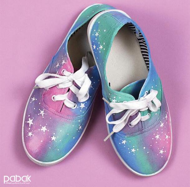 How to paint shoes 6 - چطور کفش را رنگ کنیم
