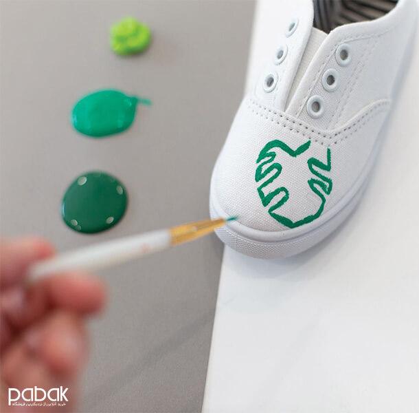 How to paint shoes 7 - چطور کفش را رنگ کنیم