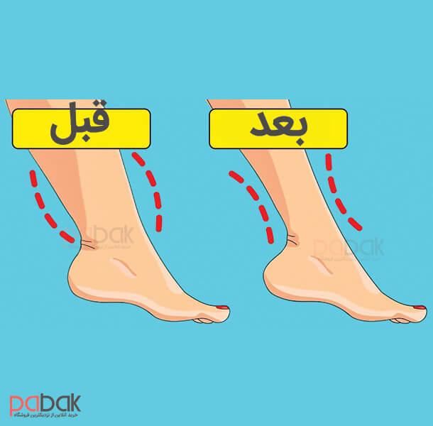 چگونه سایز پا را کم کنیم