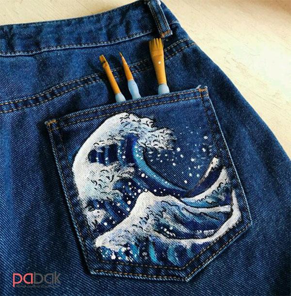 رنگ آمیزی لباس های جین