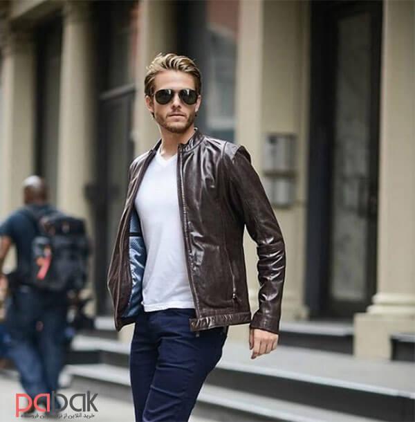 leather jacket 3 - کاپشن چرم را با چی بپوشیم