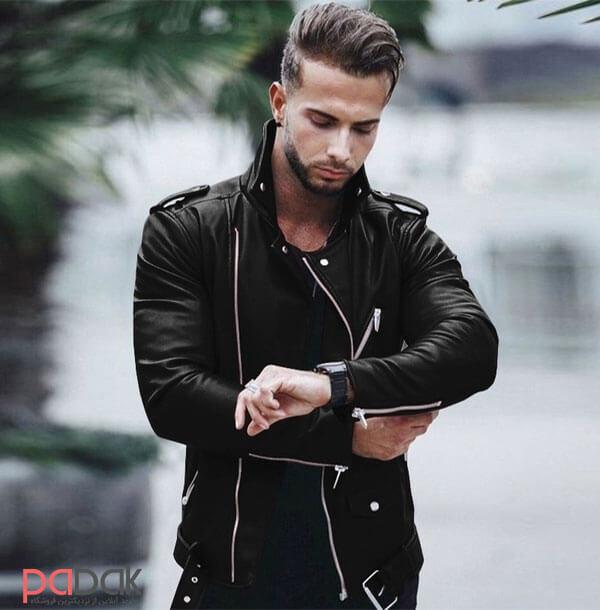 leather jacket - کاپشن چرم را با چی بپوشیم
