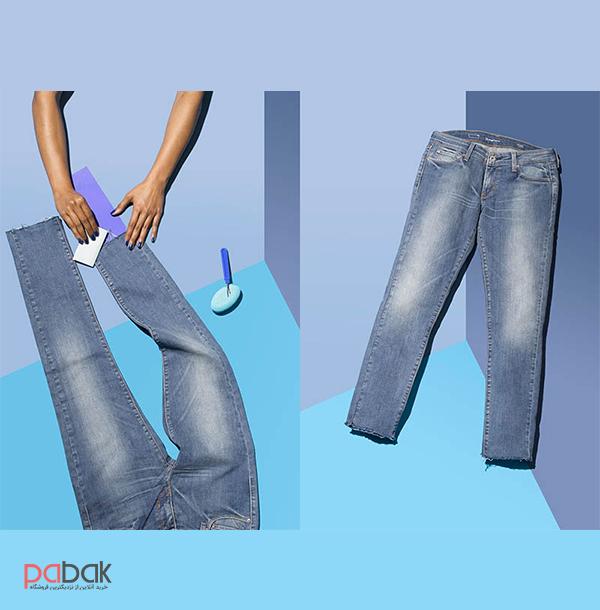 pants height 2 - چگونه شلوار کوتاه را بلند کنیم