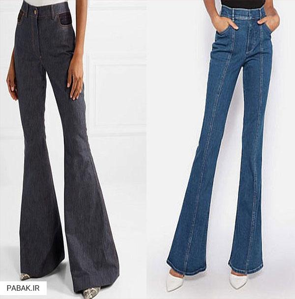 جین پاچه زنگولهای - انواع شلوار جین فاق بلند