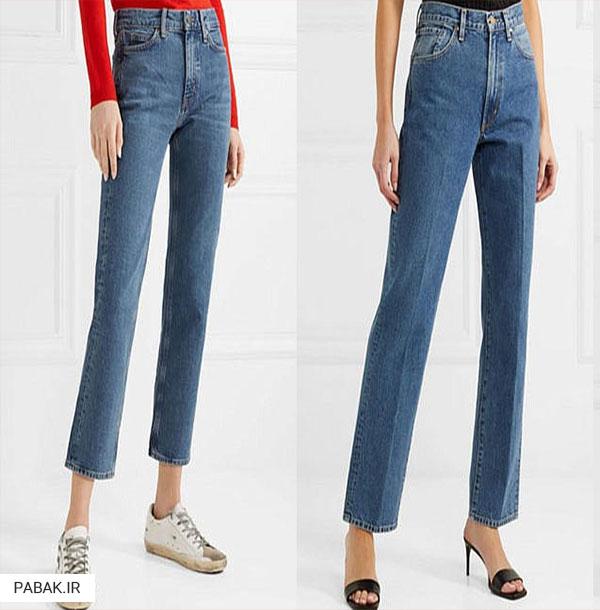 جین راسته فاق بلند - انواع شلوار جین فاق بلند