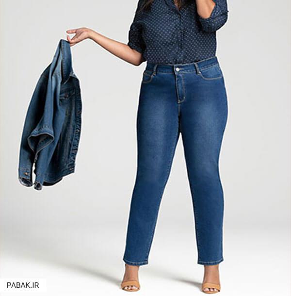 جین زنانه فاق بلند مناسب خانمهای با پایین تنه چاق - همه چیز درباره شلوار جین فاق بلند