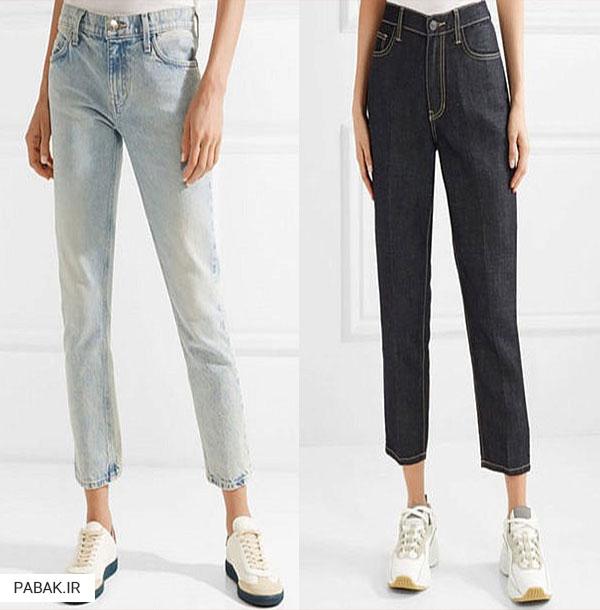 جین فاق بلند ساده - انواع شلوار جین فاق بلند