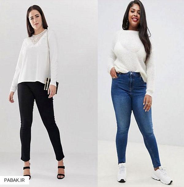 جین فاق بلند سایز بزرگ - انواع شلوار جین فاق بلند