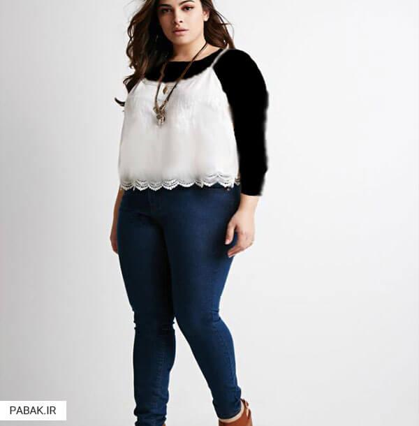 جین فاق بلند مناسب خانمهای با بالاتنه چاق - همه چیز درباره شلوار جین فاق بلند