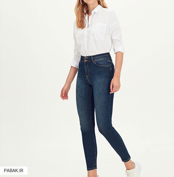 جین فاق بلند مناسب خانم های قد بلند - همه چیز درباره شلوار جین فاق بلند