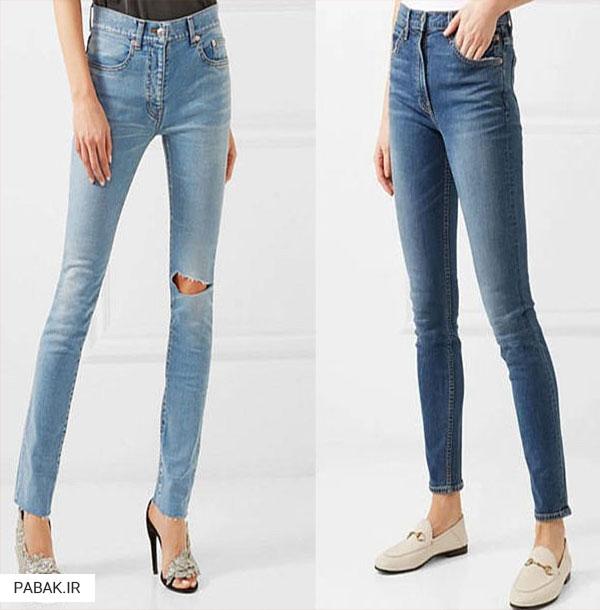 جین فاق بلند چسبان - انواع شلوار جین فاق بلند