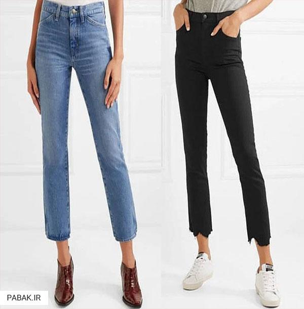 جین مام - انواع شلوار جین فاق بلند