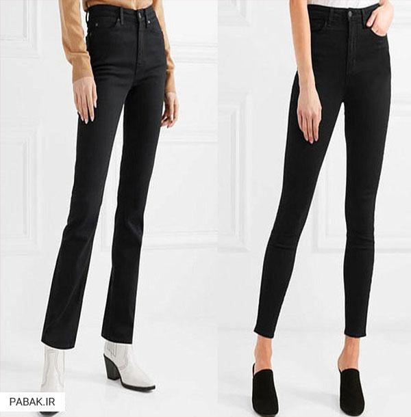 جین مشکی فاق بلند - انواع شلوار جین فاق بلند