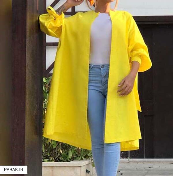 جلو باز همراه با شلوار جین فاق بلند - همه چیز درباره شلوار جین فاق بلند