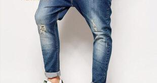 انواع شلوار جین فاق بلند