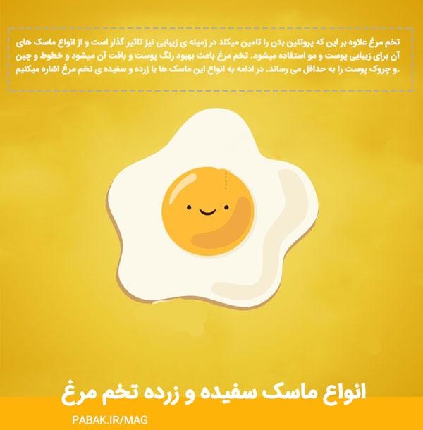 ماسک سفیده تخم مرغ - انواع ماسک سفیده و زرده تخم مرغ