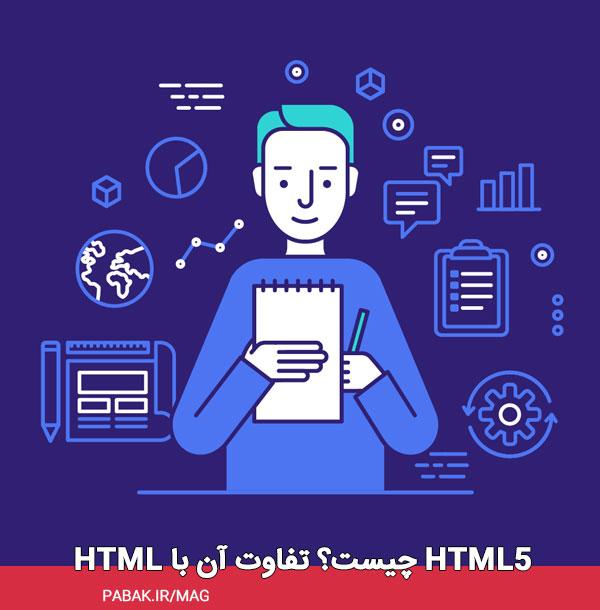Html چیست؟ تفاوت آن با html5 - معرفی زبان فرانت اند به زبان ساده