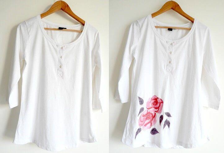 t shirt painting145 - چگونه روی پارچه نقاشی کنید