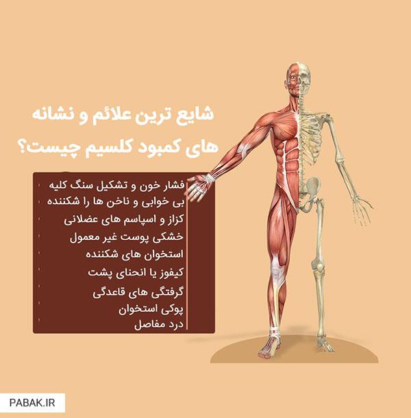 calcium deficiency 01 - عوارض کمبود کلسیم در بدن