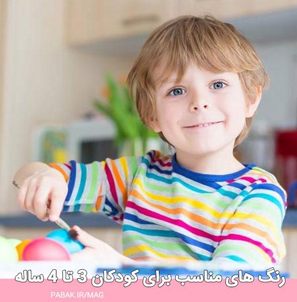 های مناسب برای کودکان ۳ تا ۴ ساله - رنگ مناسب لباس کودک